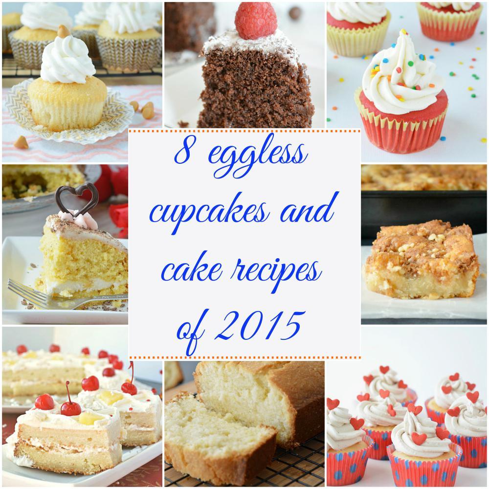 8 eggless cupcakes and cake recipes