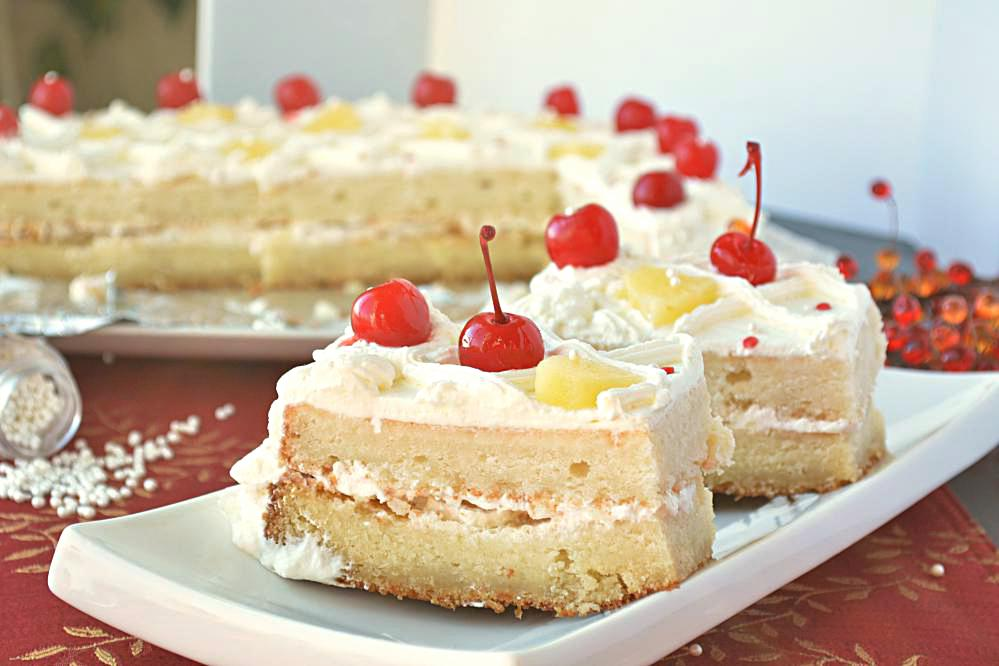Cake Pineapple Chunks