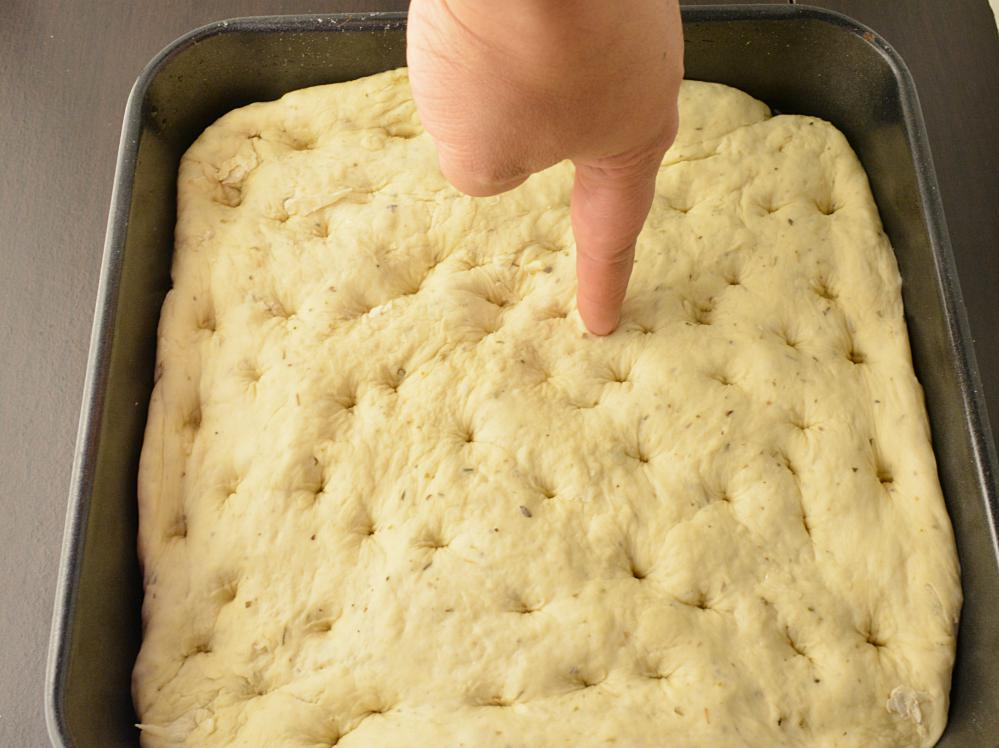 Step by step Focaccia bread recipe