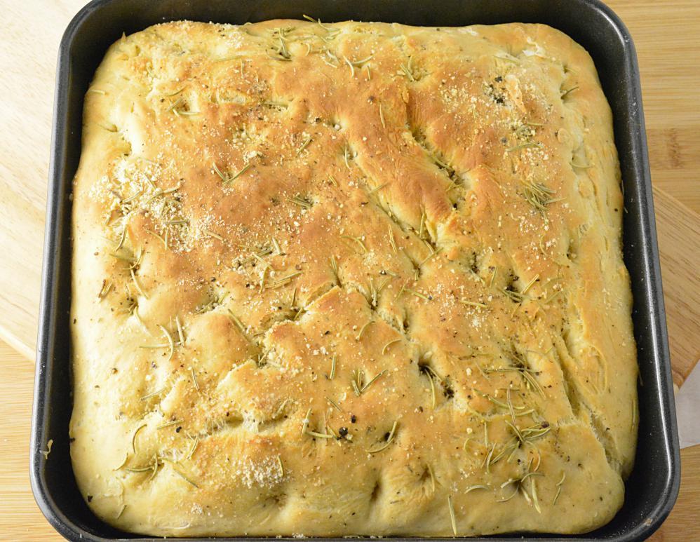 Baked rosemary Focaccia bread