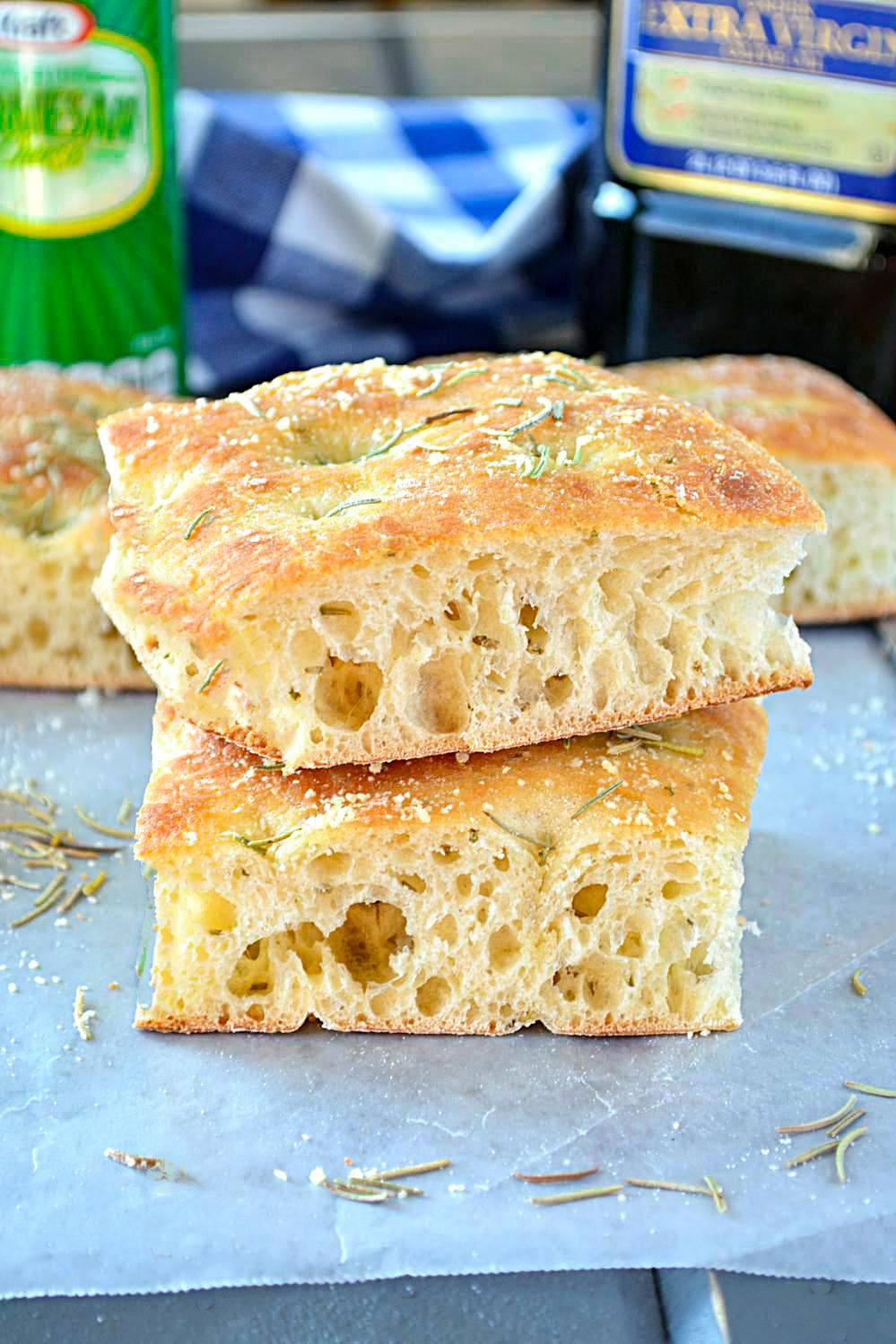 Beautifully baked Focaccia bread recipe