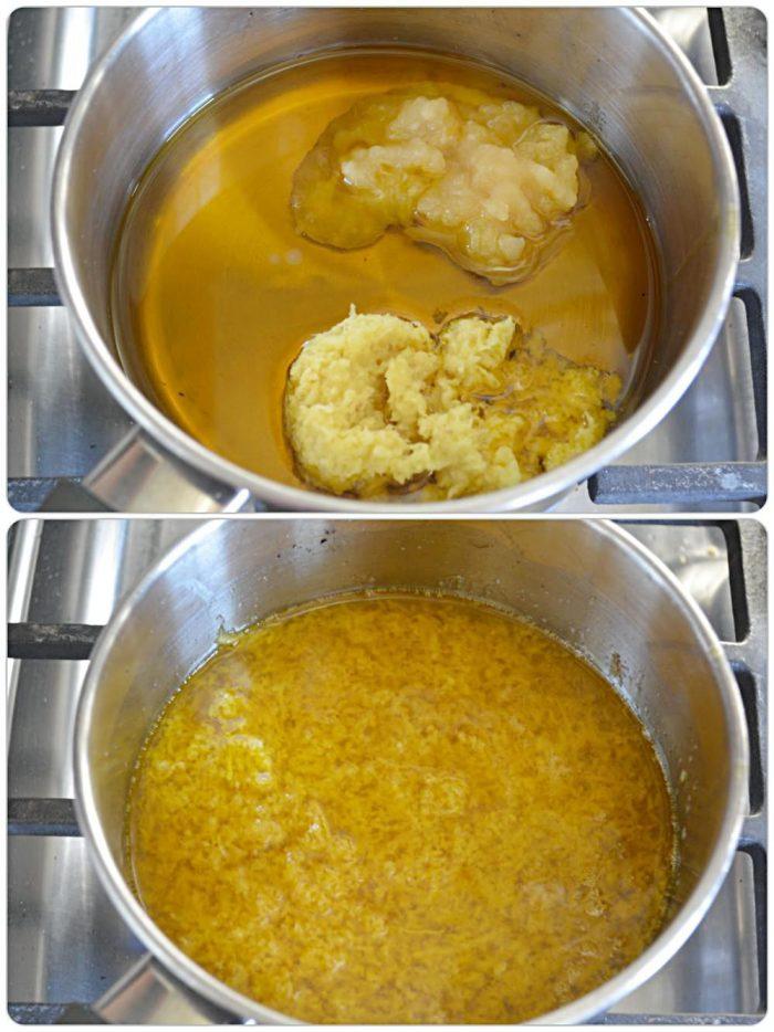 Prepare ginger and garlic