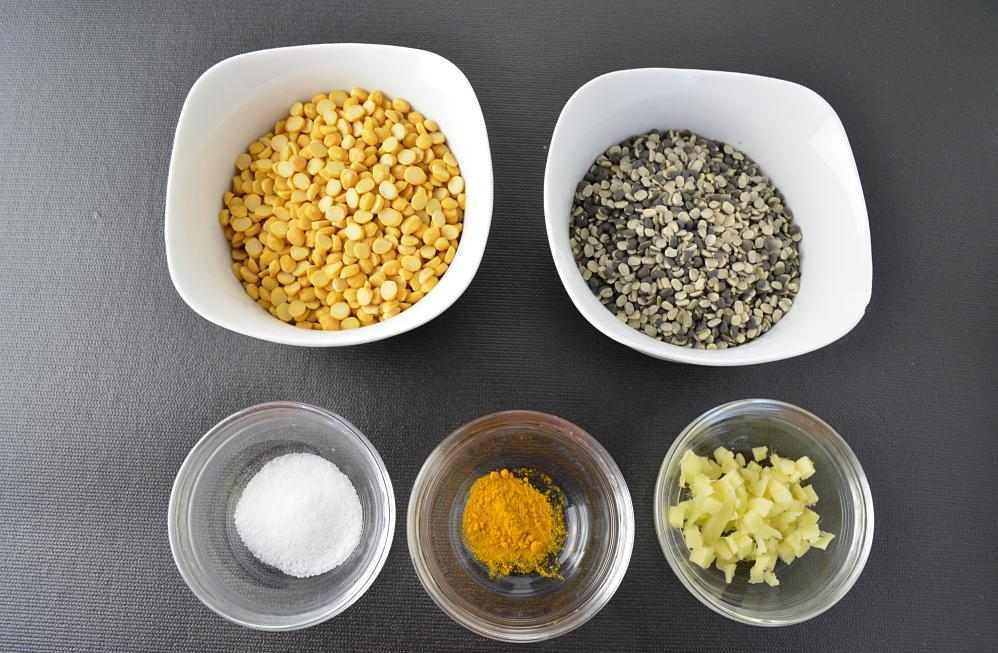 Wash and clean dal.