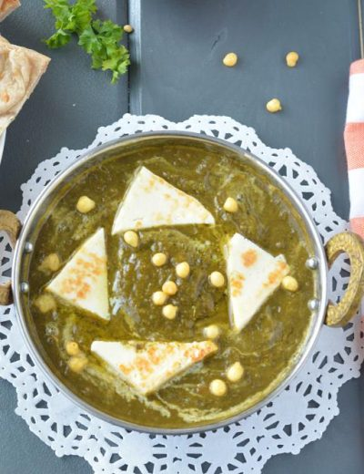 Palak Paneer in slow cooker