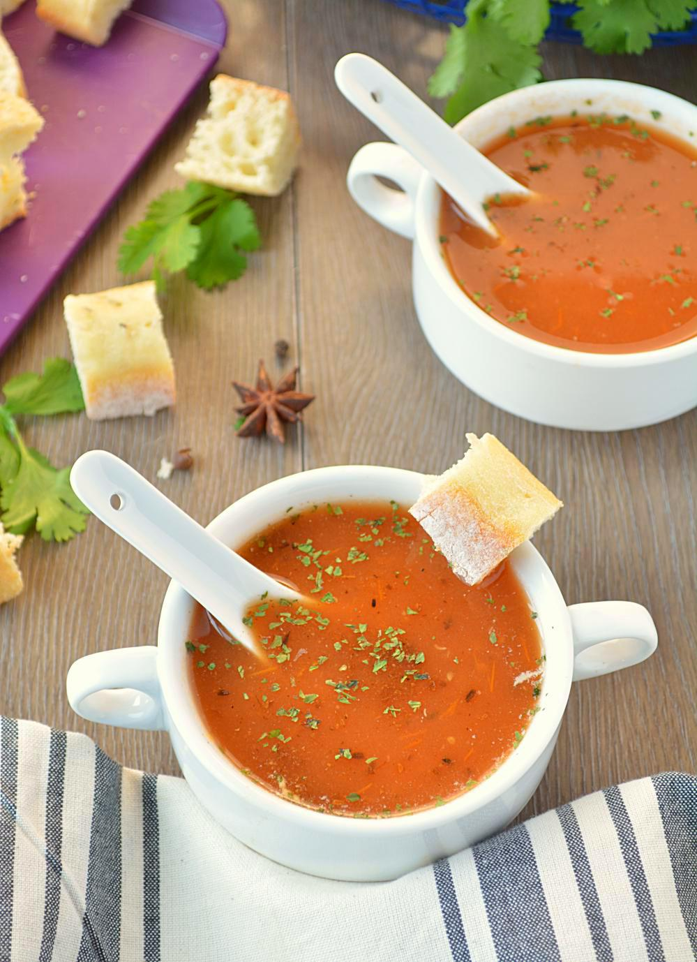 Tamatar ka shorba - Spiced Indian Tomato soup