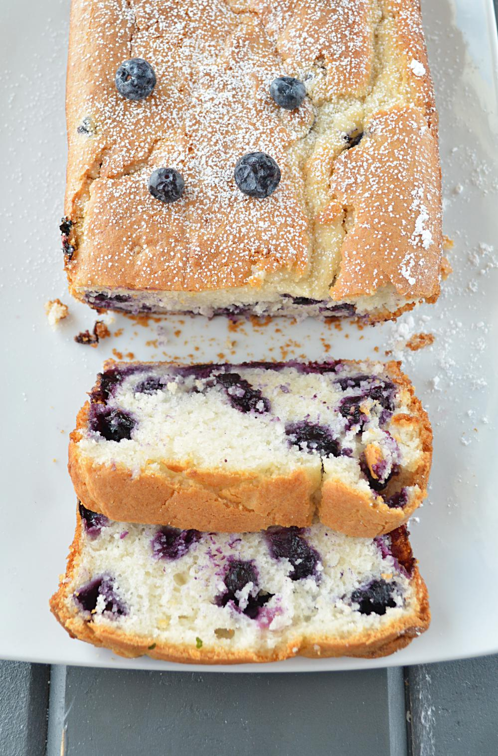 Eggless Blueberry Cake Using Cake Mix