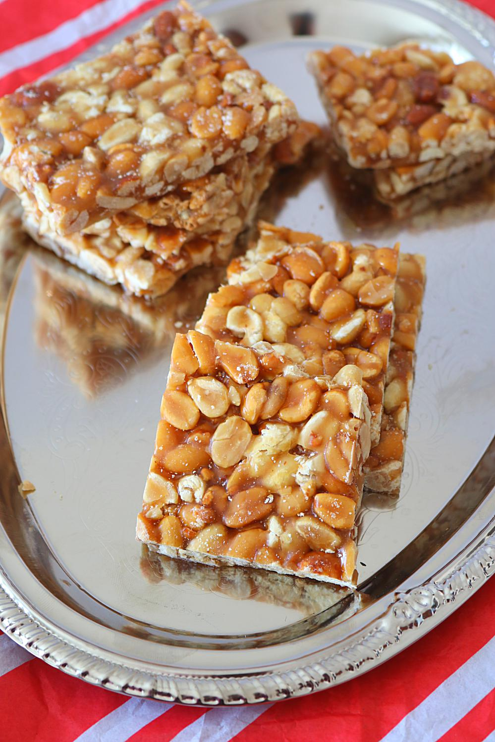 Peanut Chikki or gajak - Ruchiskitchen