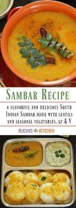 Step By step Sambar Recipe - Ruchiskitchen