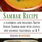 Step By step Sambar Recipe - Ruchiskitchen