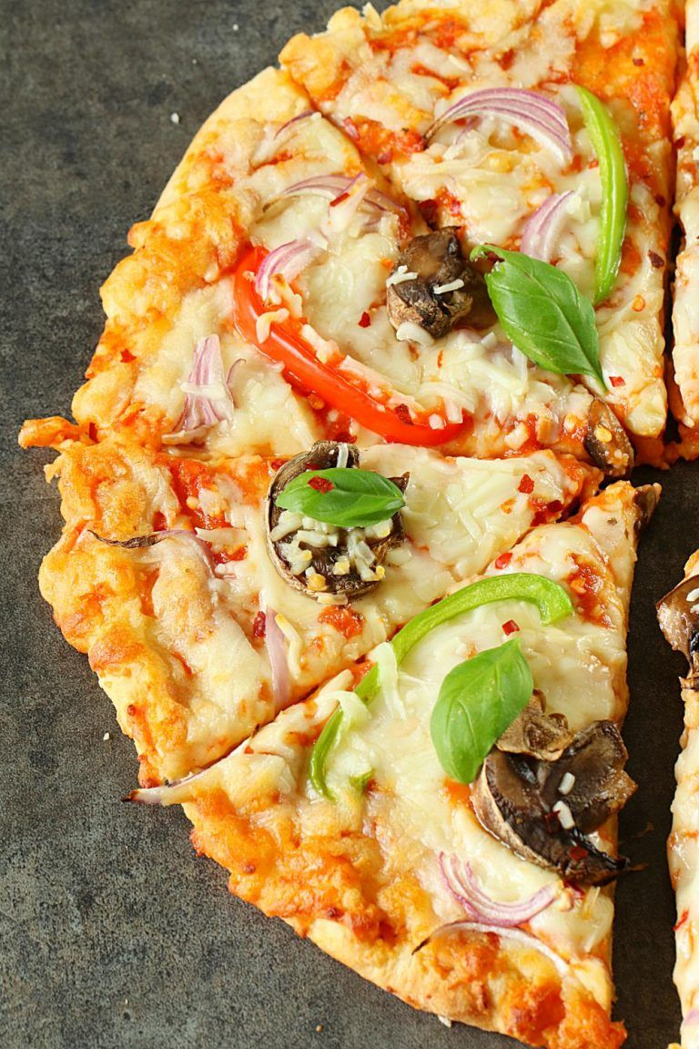 Vegetarian Pizza Recipe - Ruchiskitchen