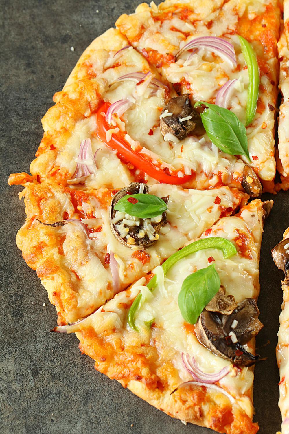 Vegetarian Pizza Recipe - Ruchiskitchen