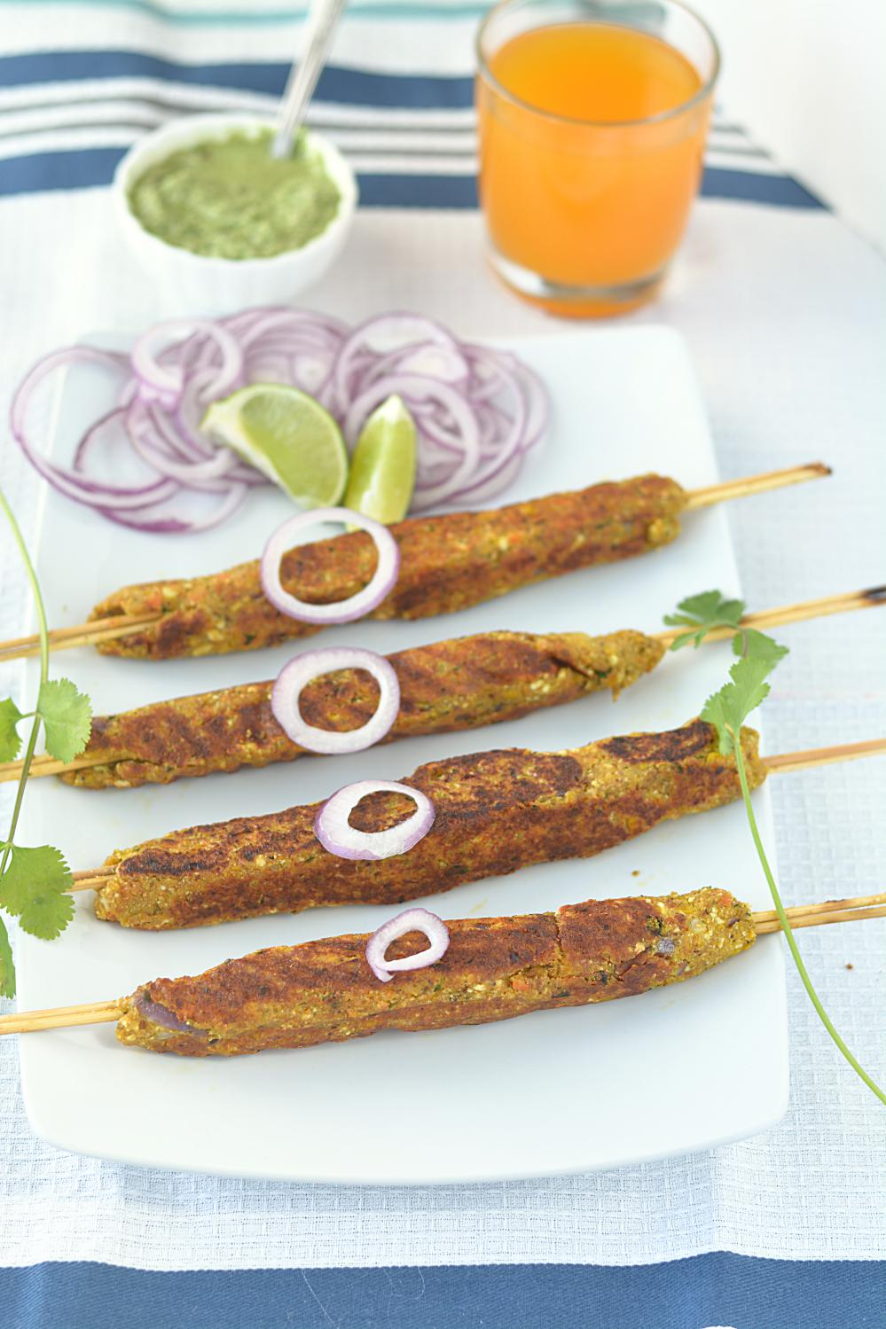 Corn and Tofu Kebab Recipe