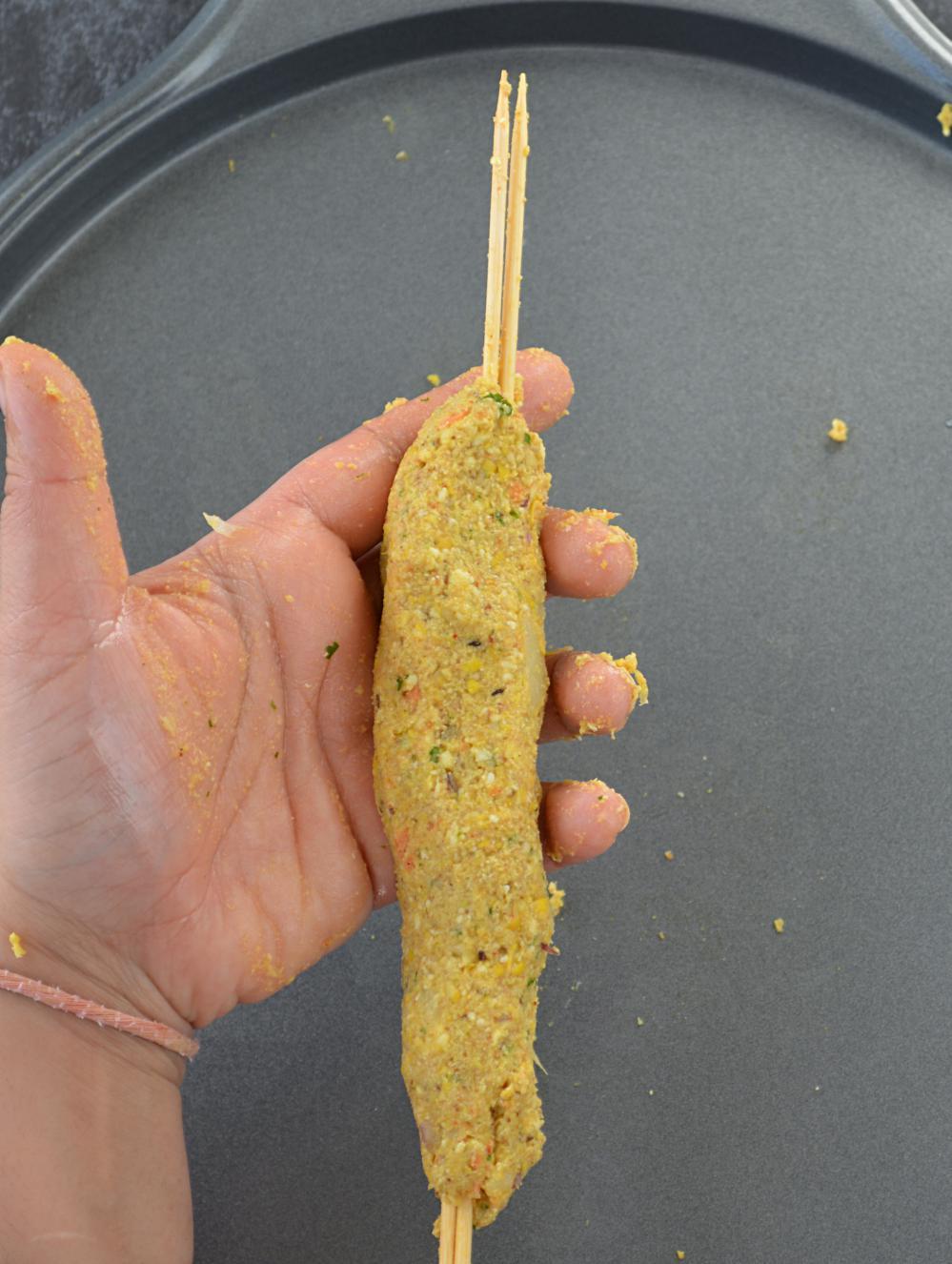 how to make corn kabab