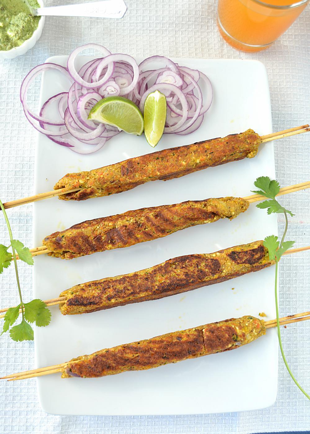 Corn and Tofu Kebab Recipe
