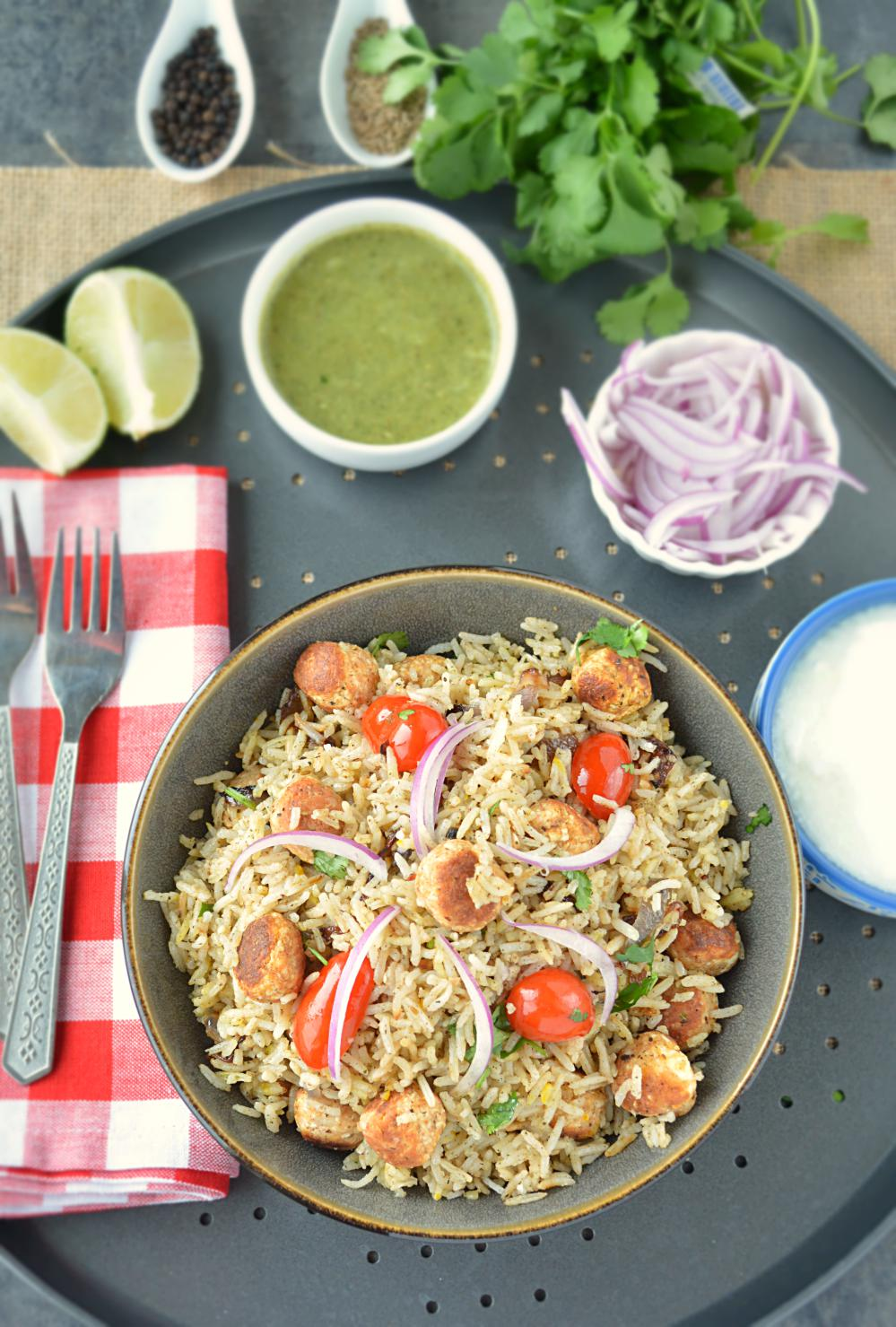 step by step Moti Pulao recipe