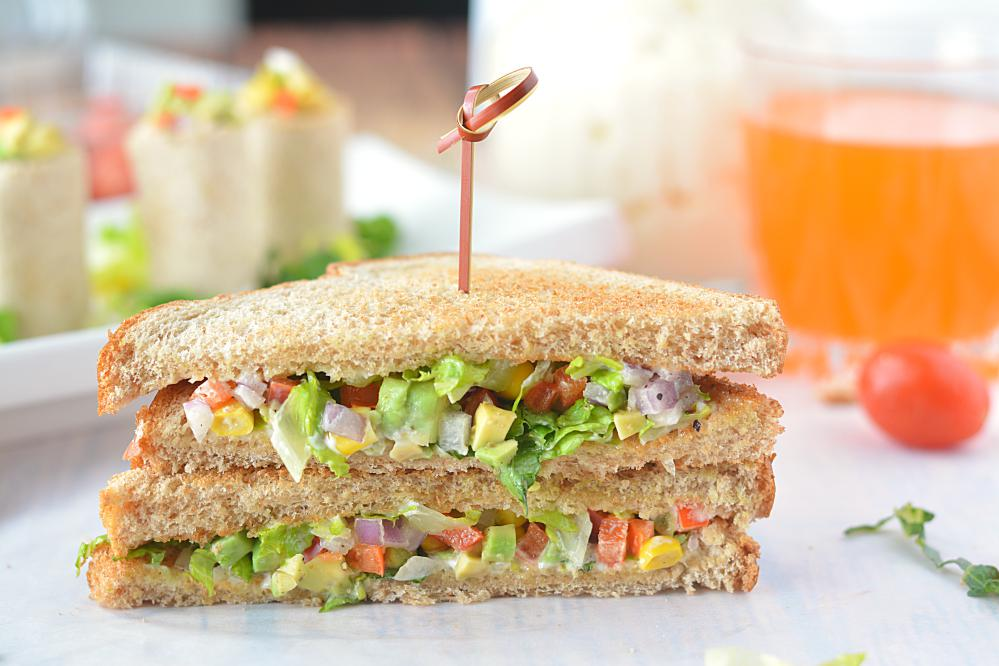 Quick And Easy Avocado Mayo Sandwich