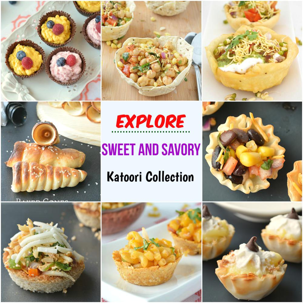Sweet and Savory Katori chaat