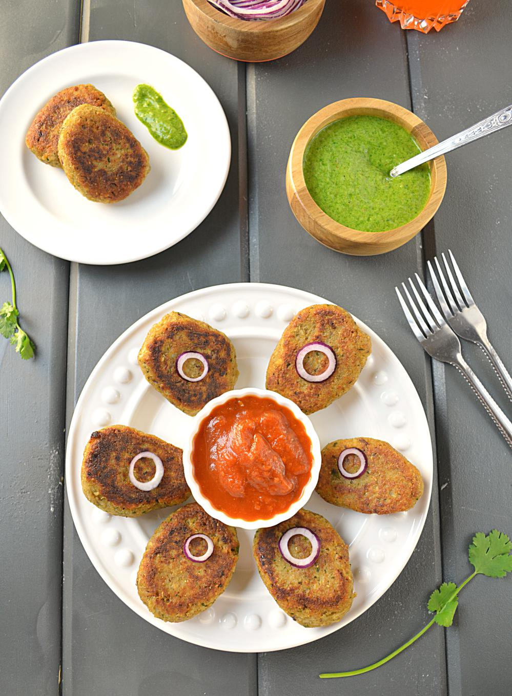Kamal Kakdi cutlets or Lotus stem cutlets