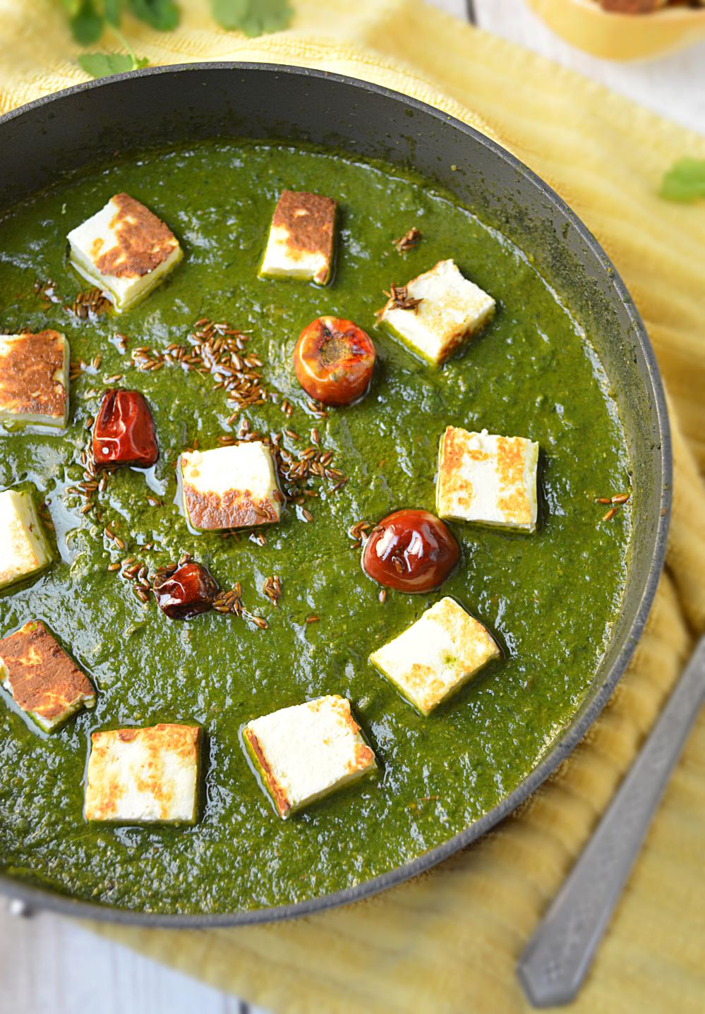 No Onion No Garlic Palak Paneer
