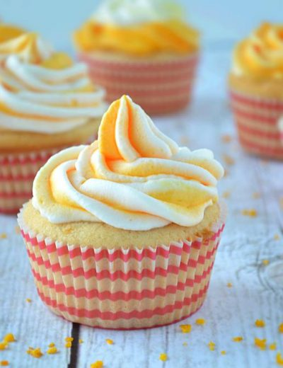 Eggless Orange Cupcakes