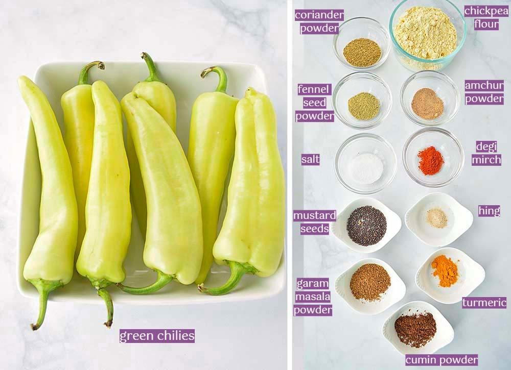 Bharwan Mirchi Ingredient List