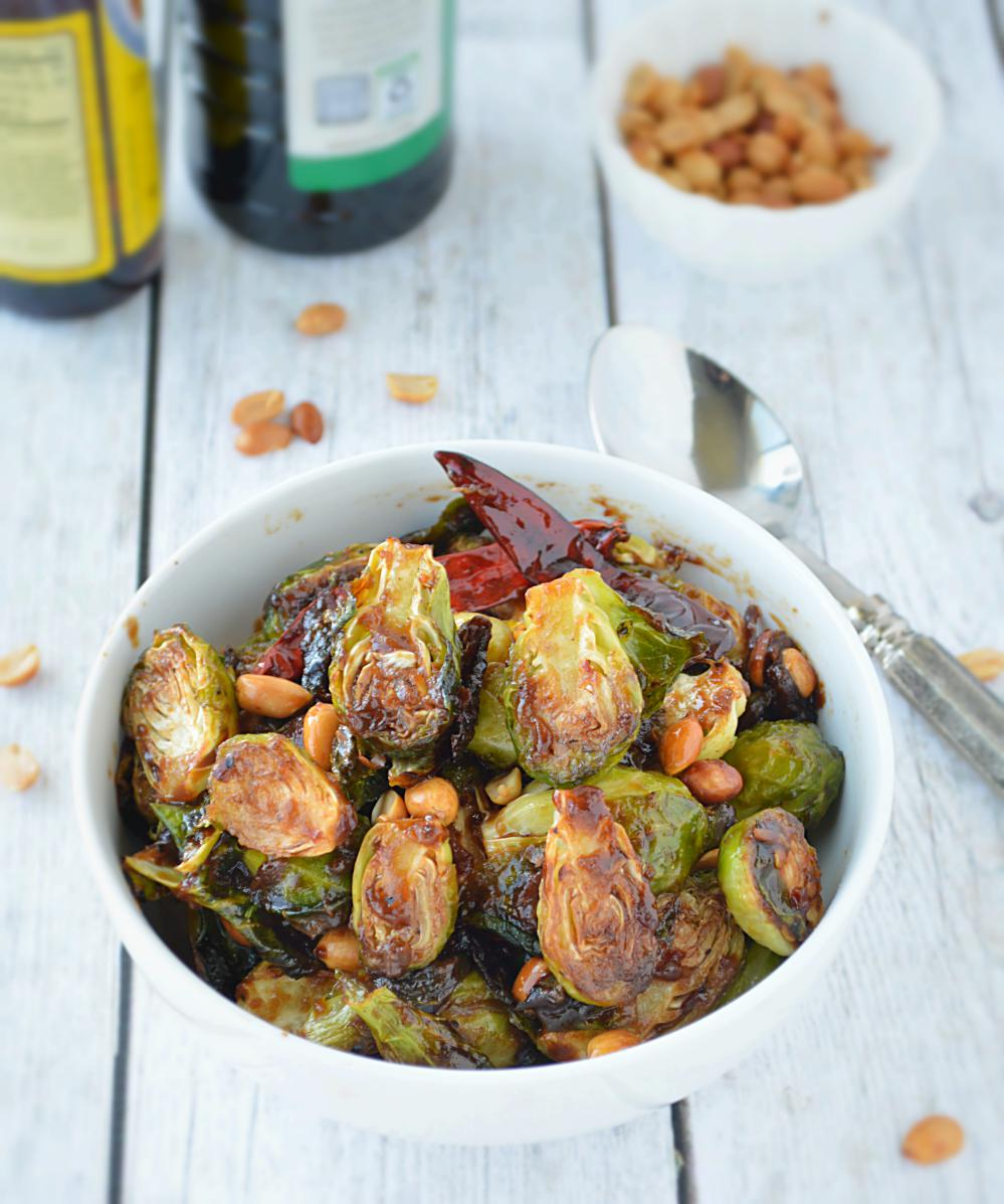 How to make Kung Pao Brussels Sprouts