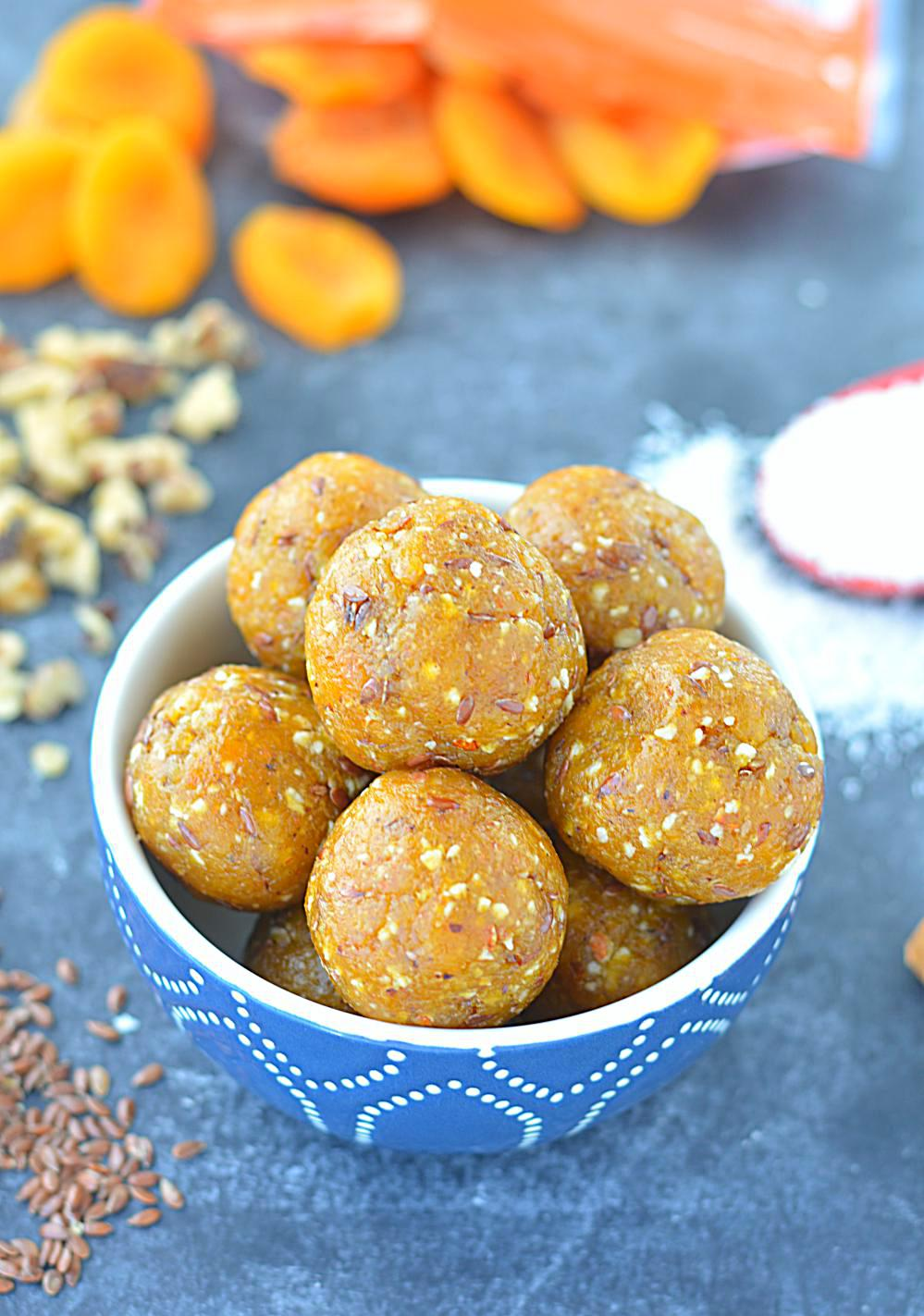 No Cook Apricot Energy Bites image