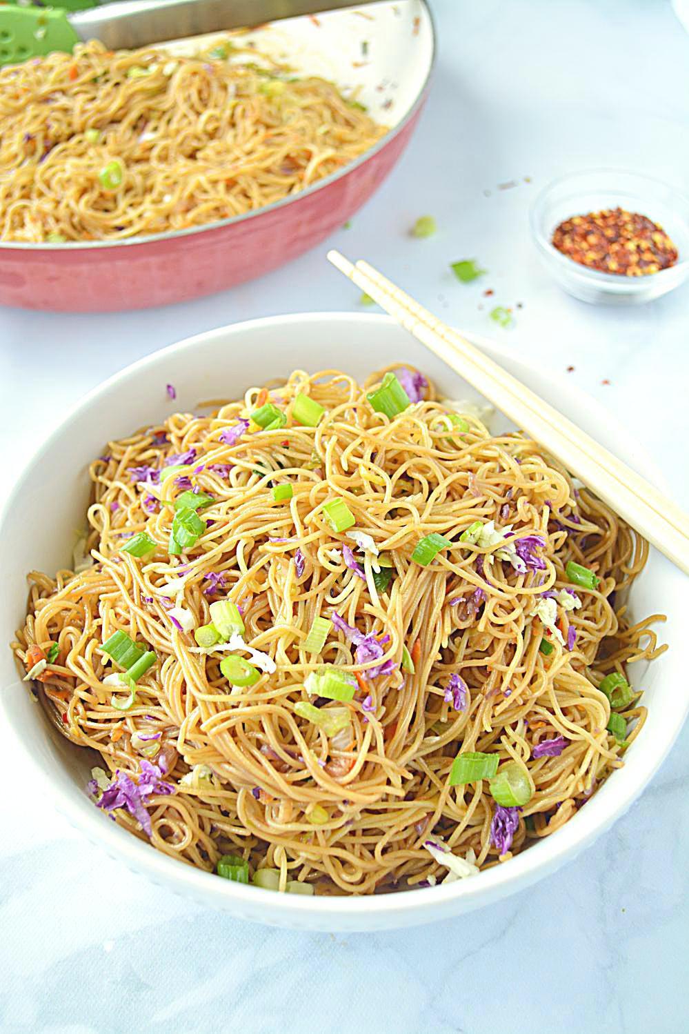 Cantonese Style Veg Noodles recipe