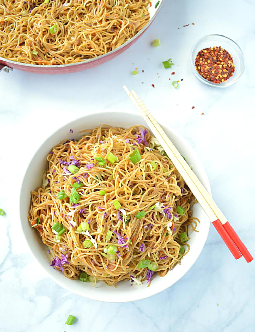 Cantonese Style Veg Noodles image