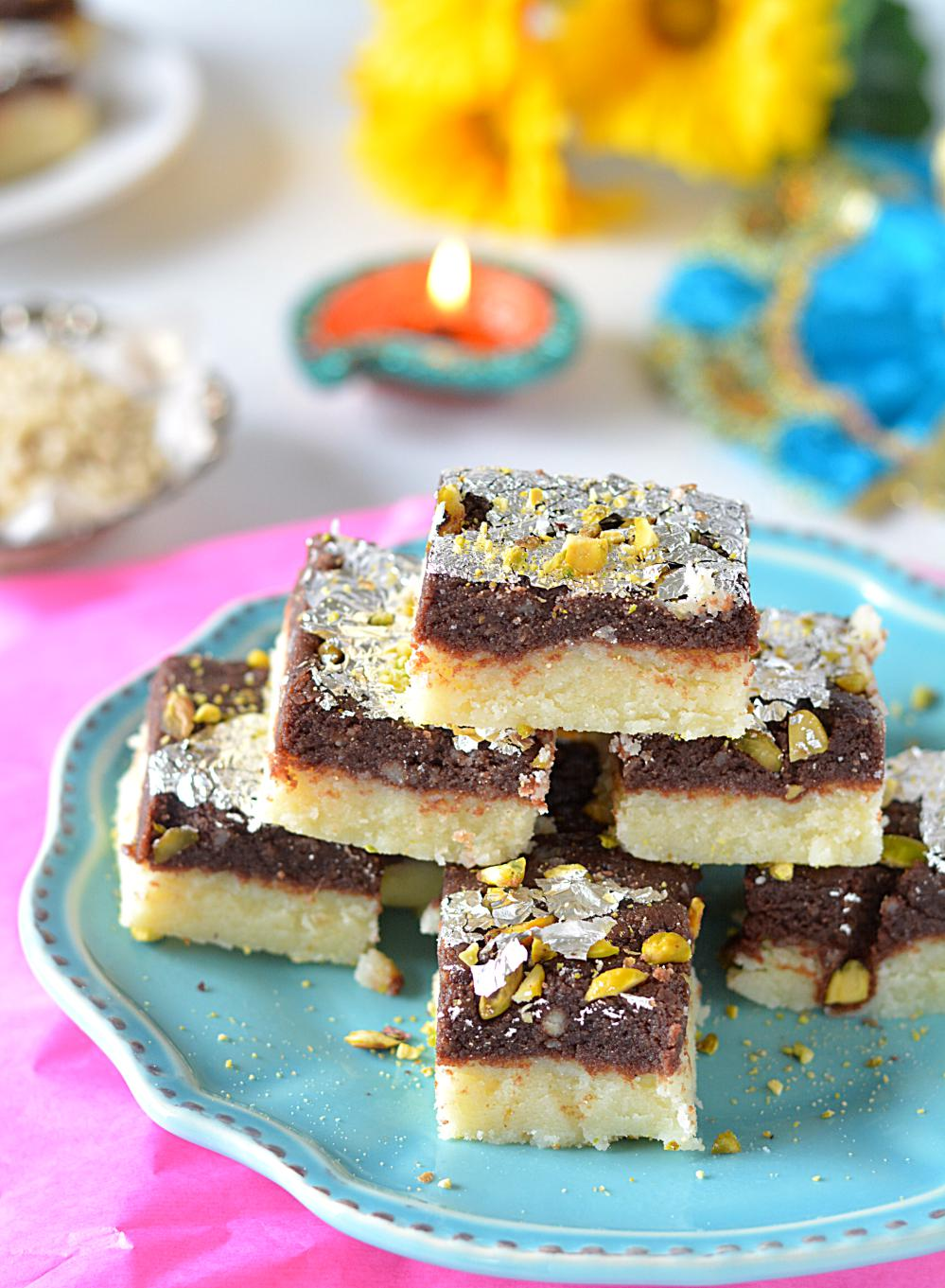 Chocolate mawa Burfi Recipe