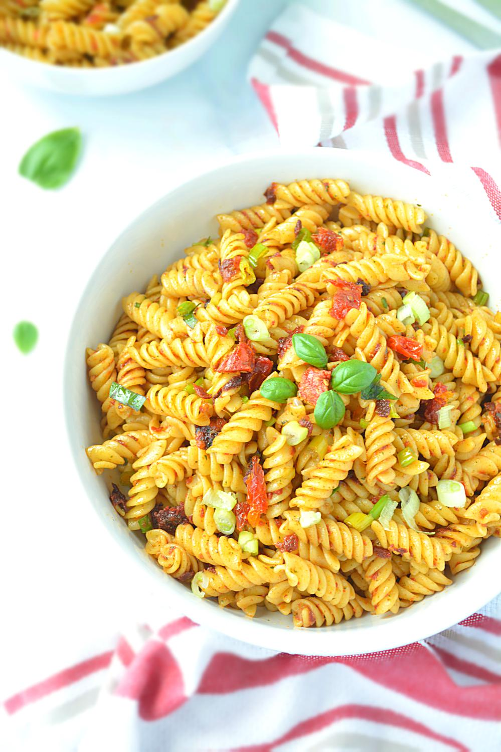 Pasta with Spicy Sun Dried Tomato Pesto