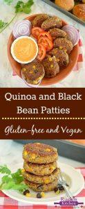Vegan Spicy Black Bean Quinoa Burger - Ruchiskitchen