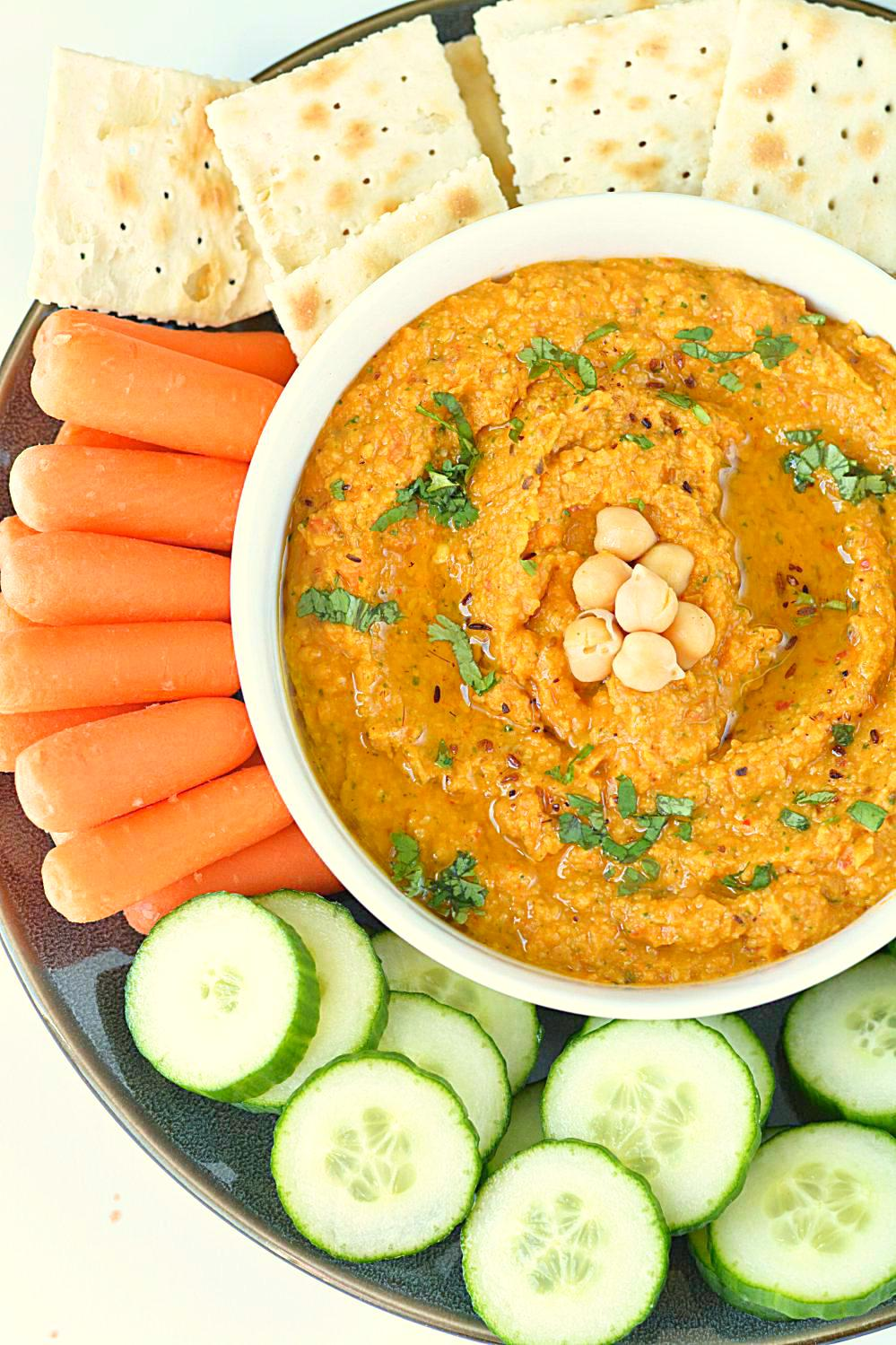 Once hummus is ready, refrigerate it for an hour. It tastes delicious ...