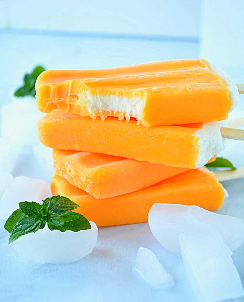 No Cook Mango Popsicle or Mango Bar | ruchiskitchen.com