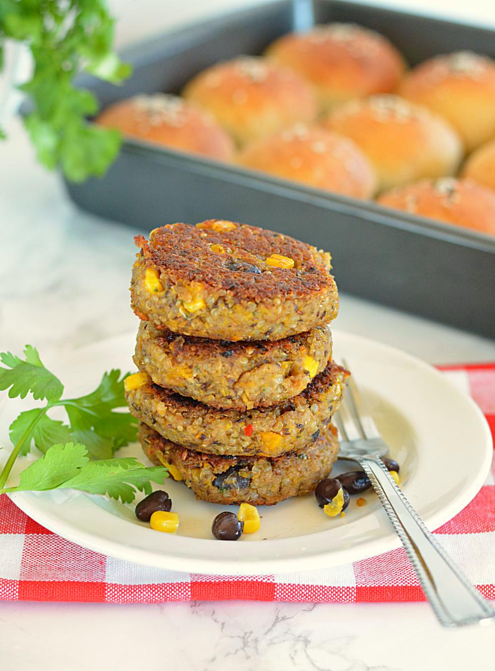 Quinoa and Black Bean Patties - Ruchiskitchen