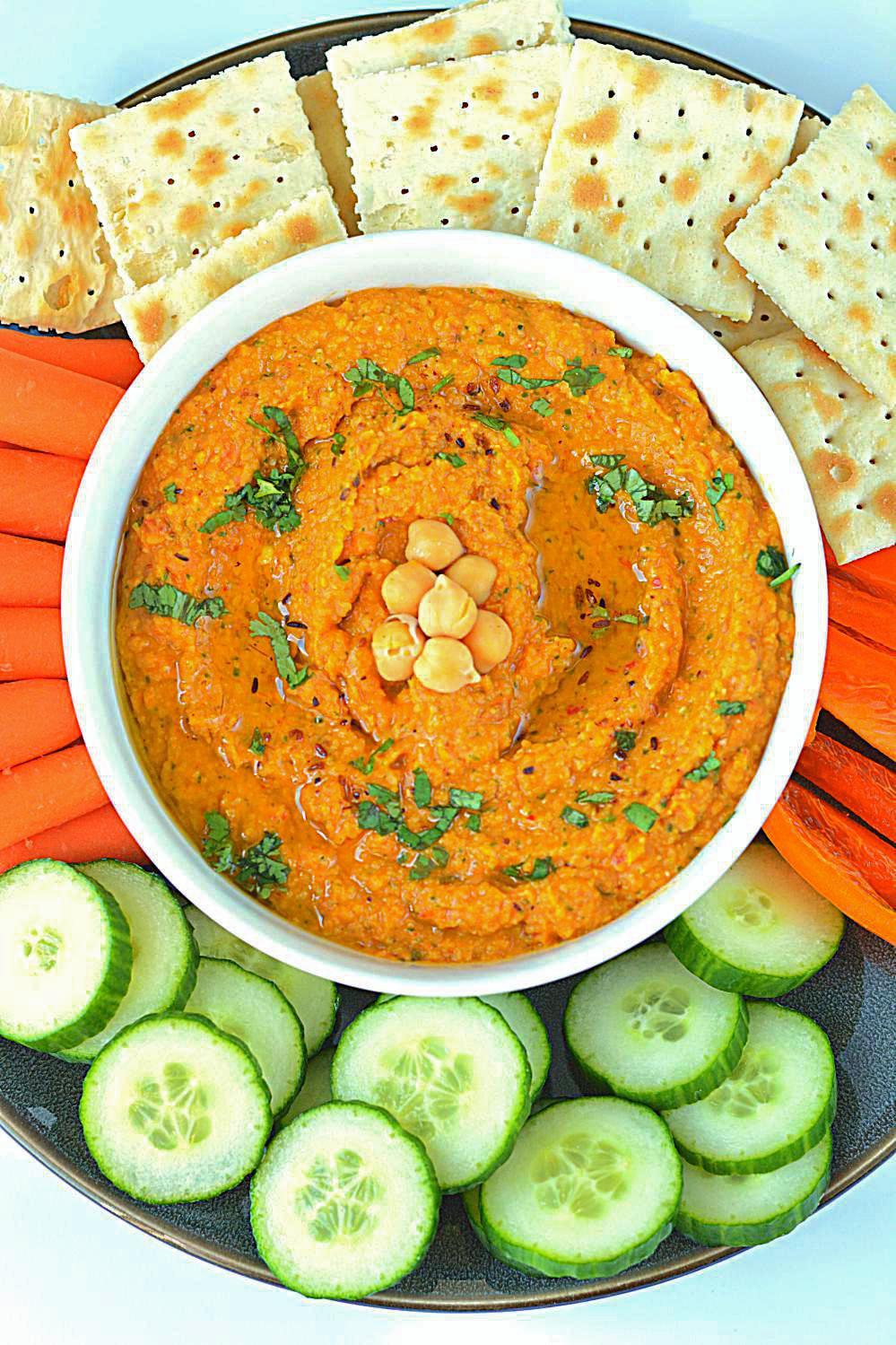Spicy Chickpea Hummus Recipe, vegan and gluten free ...