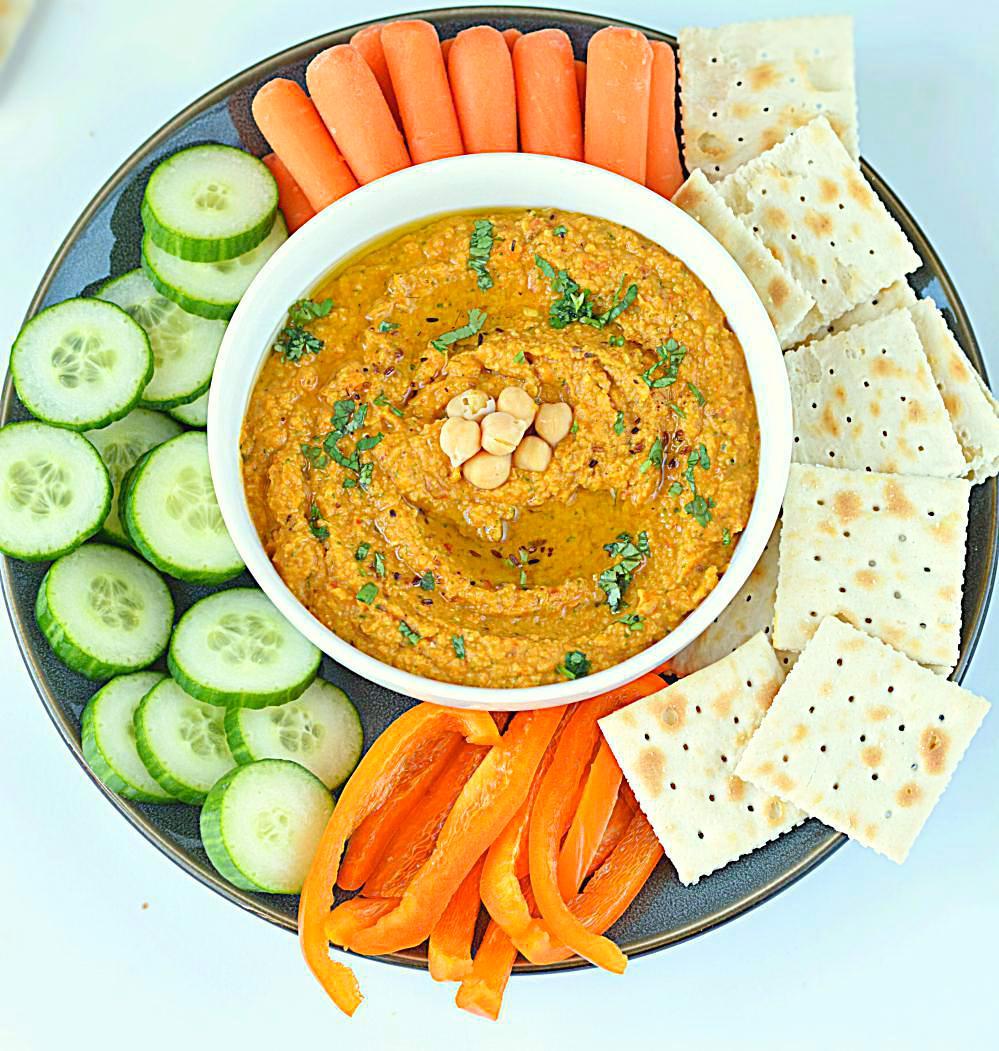 Spicy Chickpea Hummus Recipe, Vegan And Gluten Free