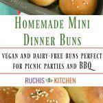 Homemade Mini Burger Buns - Vegan - Ruchiskitchen