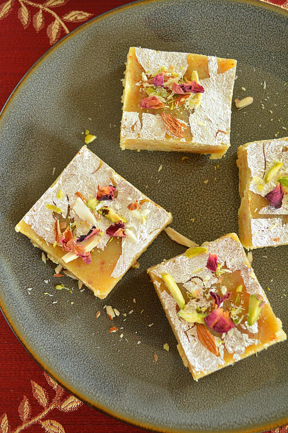 Moong Dal Burfi Recipe