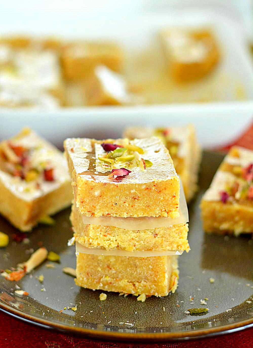 Moong Dal Burfi Made With Yellow Lentils Is A Soft Delicious And Creamy Fudge Gluten Free Delicacy That Easy To Make Very Addictive
