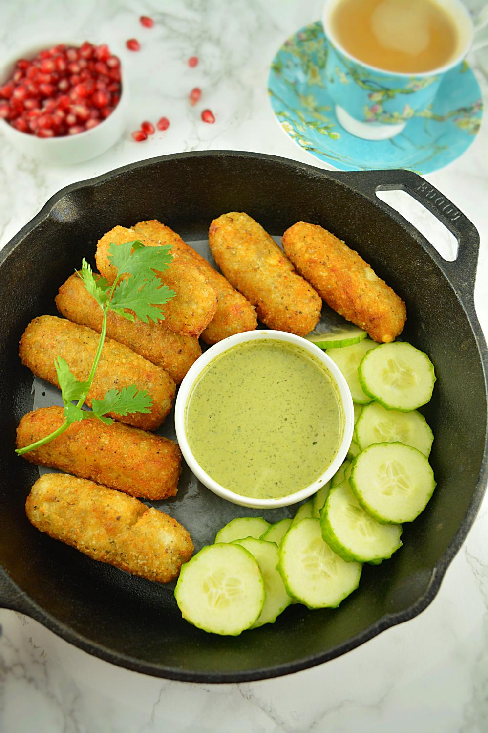 Paneer Stuffed Croquettes