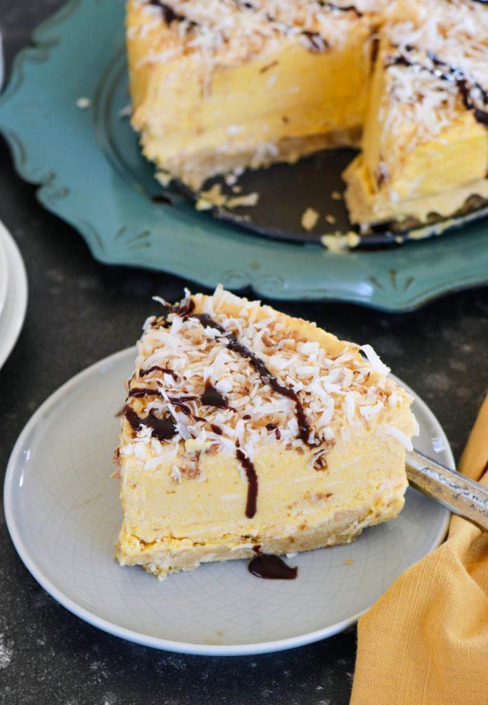 No Bake Coconut Pumpkin Mousse Pie - Ruchiskitchen