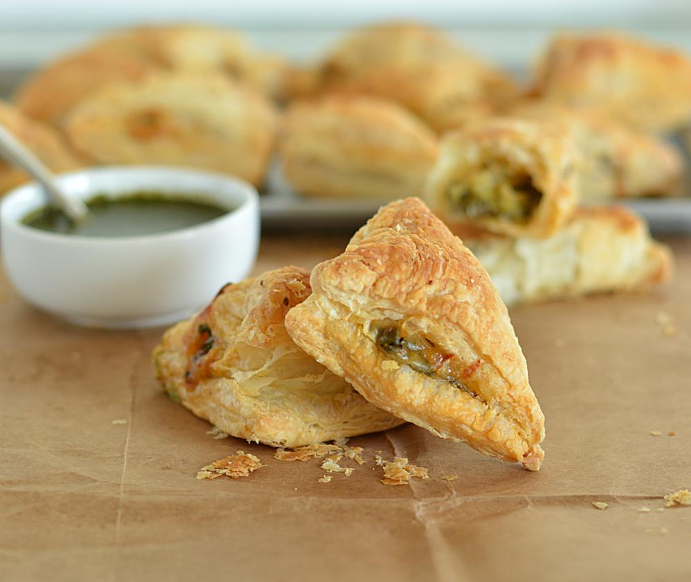 Cheesy Broccoli... Meat Spinach Cheese Pastry