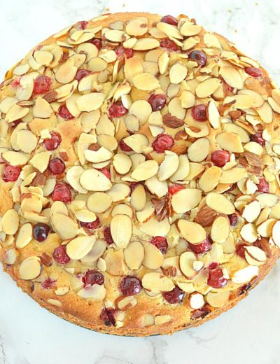 Cranberry Almond Pound Cake