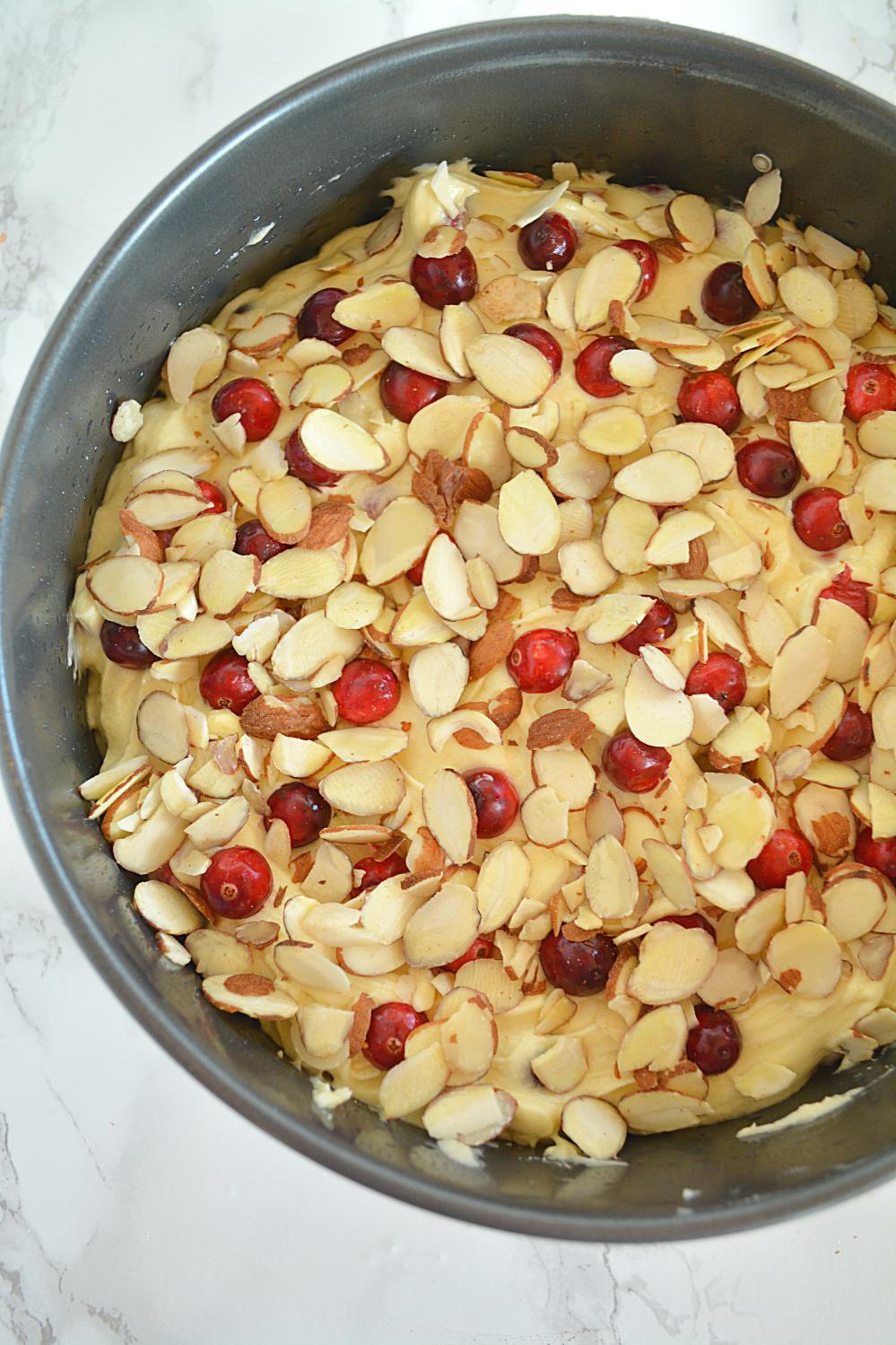 Cranberry Almond Pound Cake