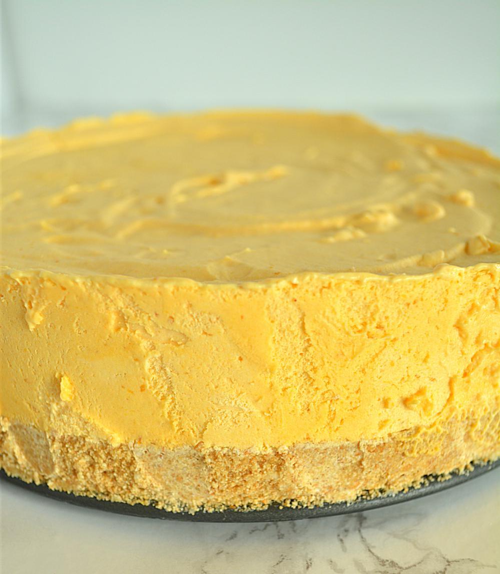 No Bake Coconut Pumpkin Mousse Pie, Coconut Pumpkin Mousse Pie