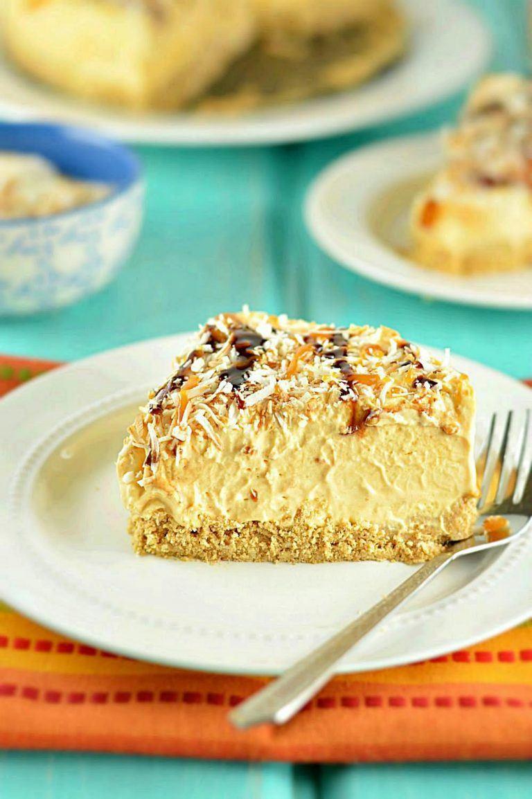 Eggless Butterscotch Mousse Cake Recipe