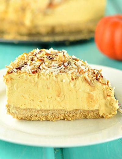 No Bake Coconut Pumpkin Mousse Pie