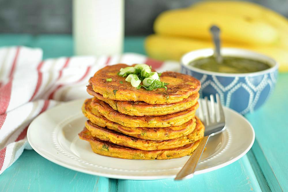 Savory pumpkin pancakes healthy veggie pumpkin pancakes for Recipes for pancakes sweet and savory