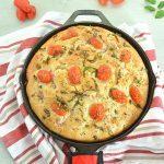 No Knead Tomato Basil Focaccia Bread